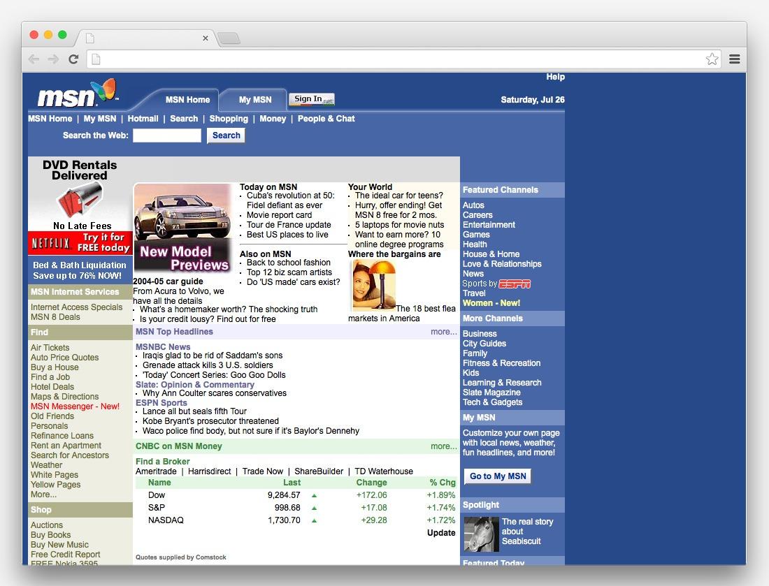 La storia di internet attraverso siti famosi 1 parte for Siti architetti famosi